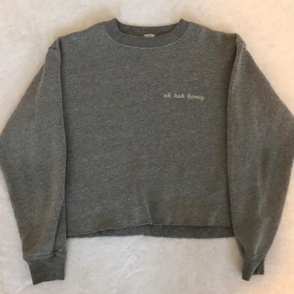 Brandy Melville Sweaters Cropped Uh Huh Honey Sweatshirt Poshmark